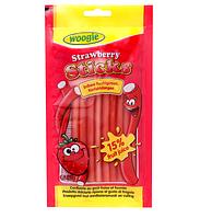 Желейные конфеты Sticks Strawberry клубника Woogie 85 g , фото 1
