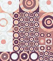 Панно из мозаики Розовые круги 1,8*2,1 D-Core