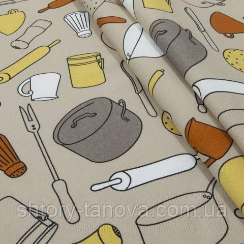 Декоративная ткань для штор, кухня
