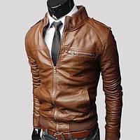 Мужская искусственная кожа куртка осень - весна