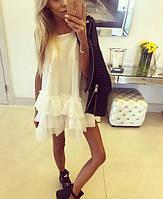 Женское модное платье-сарафан с оборками на подоле, фото 1