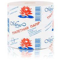 Туалетная бумага мини рулон, макулатурная на гильзе с перфорацией, МРС, 1 рулон
