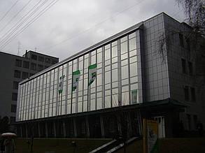 Вентилируемый стальной фасад, здание Приватбанка, г. Полтава 2
