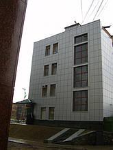 Вентилируемый стальной фасад, здание Приватбанка, г. Полтава 3