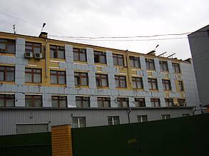 Вентилируемый стальной фасад, здание Приватбанка, г. Полтава 4