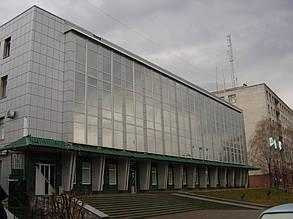 Вентилируемый стальной фасад, здание Приватбанка, г. Полтава 5