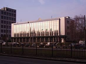 Вентилируемый стальной фасад, здание Приватбанка, г. Полтава 7