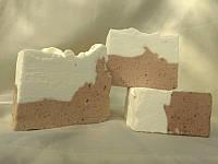 """Взбитое мыло """"Какао с молоком"""", натуральное, с нуля, ручной работы, 60-70 г"""