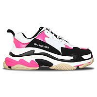 Женские кроссовки Balenciaga Triple S Pink White Black (реплика)
