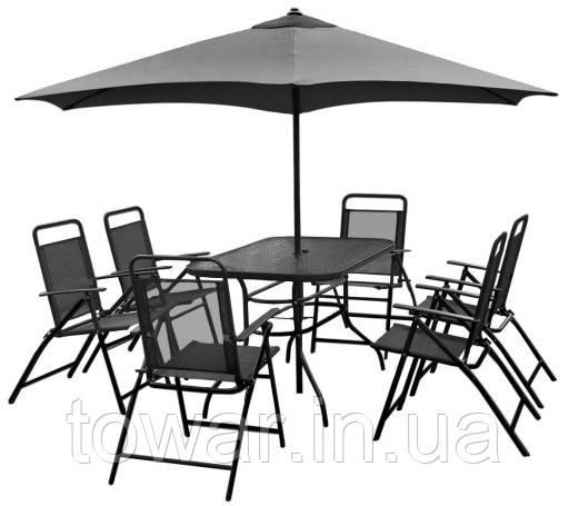 Набор садовой мебели 6+1+1 зонт NEVADA
