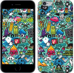 """Чехол на iPhone 6 Plus Стикер бомбинг 1 """"693c-48-571"""""""
