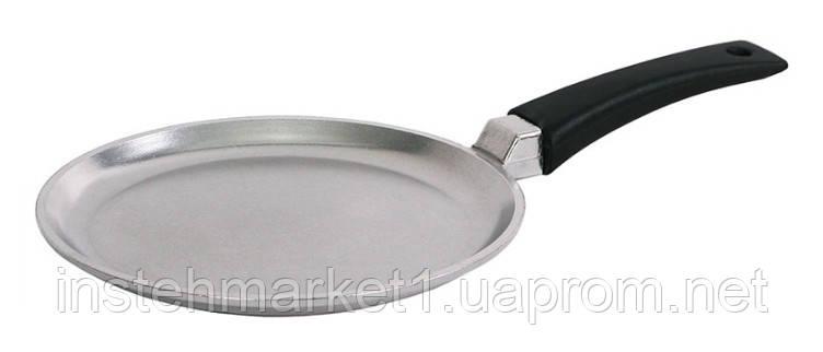 Сковорода блинная БИОЛ 2208Б (220х18 мм) алюминиевая, бакелитовая ручка