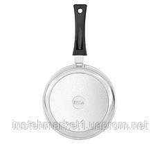 Сковорода блинная БИОЛ 2208Б (220х18 мм) алюминиевая, бакелитовая ручка, фото 3