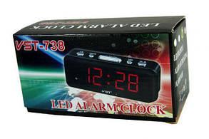 LED часы с будильником VST-738 ( настольные часы ), фото 2