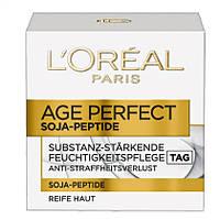 L'Oréal Paris Age Perfekt Soja-Peptide Feuchtigkeitspflege - Антивозрастной крем для лица