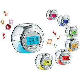 Часы-будильник 502 с RGB подсветкой ( настольные часы )