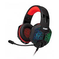 Навушники накладні провідні з мікрофоном Sven AP-U988MV Black/Red (AP-U988MV black-red (SVEN))