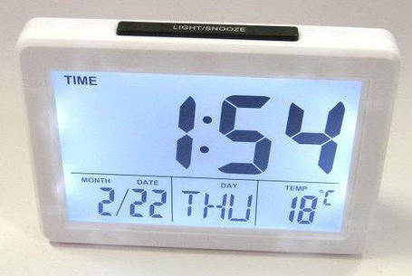 Настольные часы Voice Control Alarm Clock 2619 ( электронные часы ), фото 2