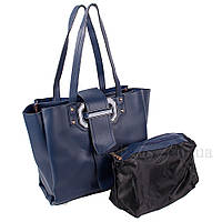 Сумка женская Fashion 2 в 1 темно-синяя 401621Db
