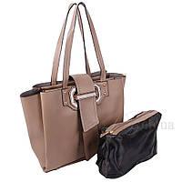 Сумка женская Fashion 2 в 1 грязно-серый 401621Mg