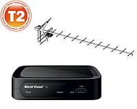 Комплект Т2  World vision T62М + антенна Волна 2-24 цифра макси с усилителем, фото 1