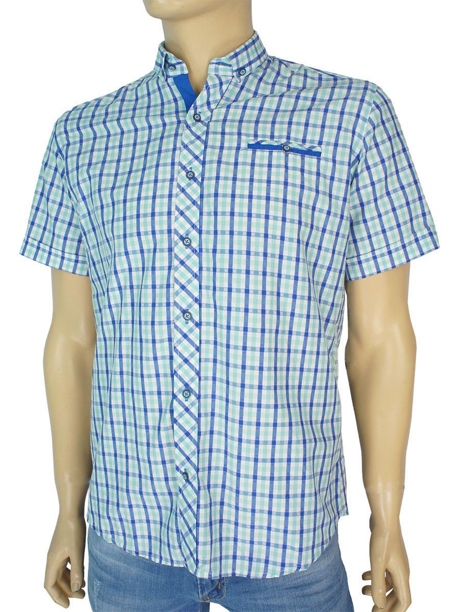 Мужская приталенная рубашка Negredo 1028 Slim в светлых оттенках