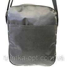 Текстильные барсетки без накатки плащевка (черный)19*23