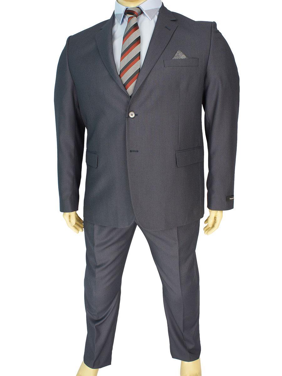 Чоловічий сірий костюм Daniel Perry Petek C. 12 у великому розмірі