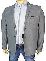 Мужской серый пиджак Daniel Perry Fulya BT C-3 большого размера
