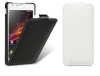 Чехол для Sony Xperia SP M35i C5303 - Melkco Jacka leather case, белый, кожаный