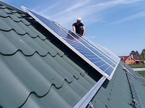 монтаж солнечных батарей Risen RSM60-6-280P half-cell на скатную крышу