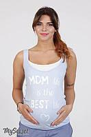 Майка для беременных и кормящих KARINA, бледно-голубая