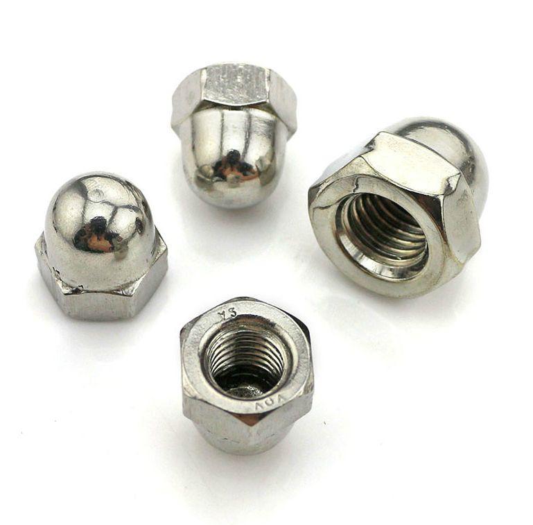 Гайка колпачковая М4 DIN 1587, ГОСТ 11860-85 из нержавеющей стали