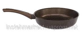 Сковорода БИОЛ Декор 28076П (діаметр 280 мм) алюмінієва з антипригарним покриттям без кришки, фото 2