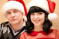 Новогодняя Шапка Взрослая Деда Мороза Колпак Санта Клауса Santa Claus, фото 1