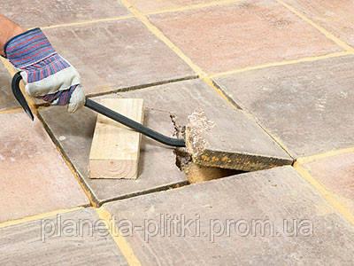 Частичный ремонт тротуарной плитки