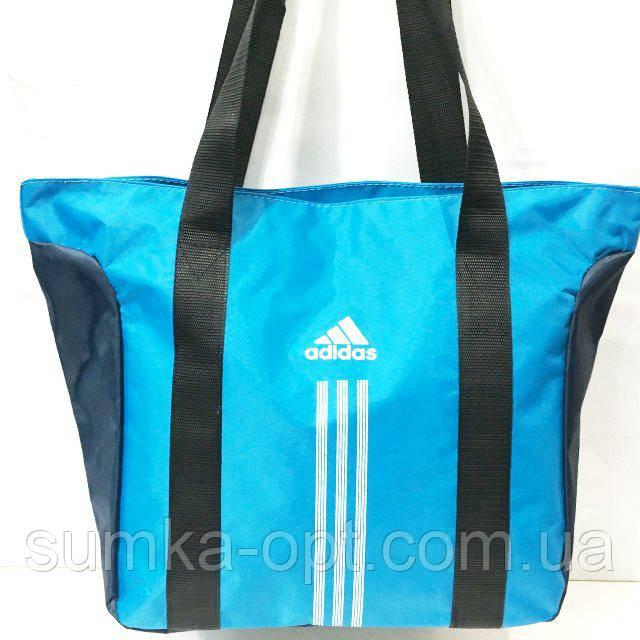 Сумки УНИВЕРСАЛЬНЫЕ для фитнеса Adidas (голубой)34*48