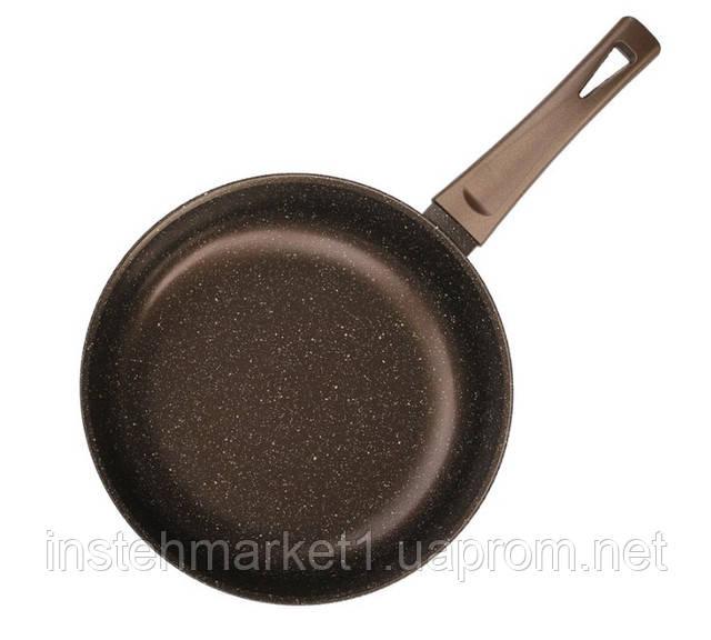 Сковорода алюмінієва з антипригарним покриттям БІОЛ Декор 28076П (280х68 мм) бакелітова ручка, без кришки в інтернет-магазині