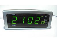 Электронные часы с будильником Caixing CX-818 ( часы настольные )