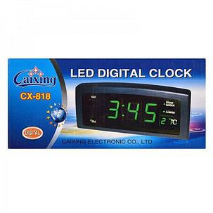 Электронные часы с будильником Caixing CX-818 ( часы настольные ), фото 2