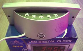 Электронные часы с будильником Caixing CX-818 ( часы настольные ), фото 3