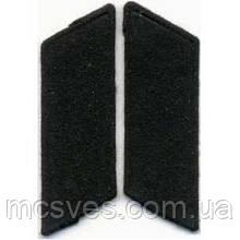 Петлицы солдатские общевойсковые ВС СССР черные