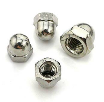 Гайка колпачковая М5 DIN 1587, ГОСТ 11860-85 из нержавеющей стали, фото 2