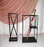 Кованая подставка для зонтов черная Модерн І Зонтовница металлическая 66х20х20, фото 4