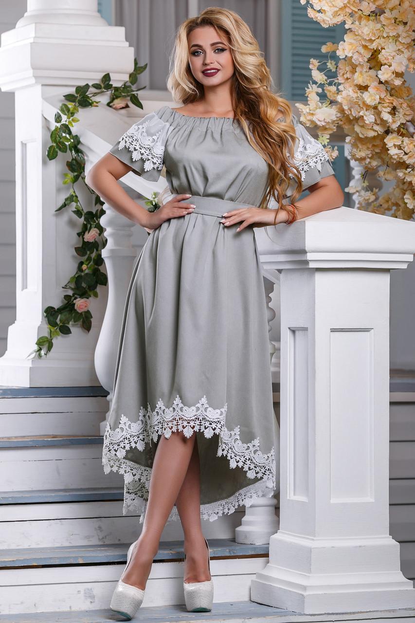 9dd61b05bac Летнее серое платье 2650 Seventeen 44-50 размеры - Интернет-магазин одежды