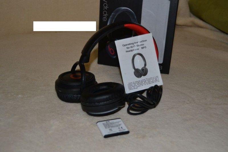 ... Беспроводные наушники Monster Beats XF-238 by Dr. Dre с МР3 плеером и  FM ... 79089075de993