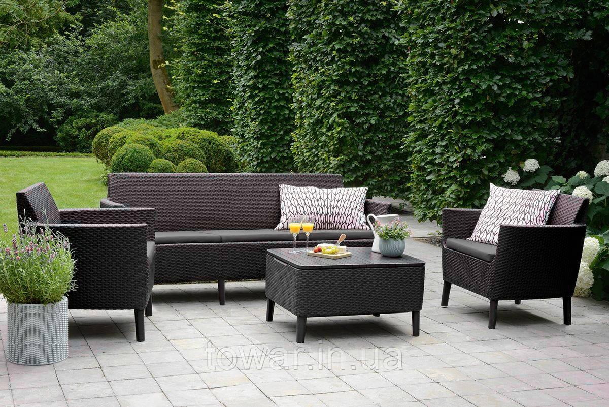 Садовая мебель Allibert Salemo 3 Corfu коричневий