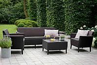 Садовая мебель Allibert Salemo 3 Corfu коричневий, фото 1