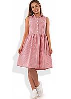 Стильное платье женское с юбкой-солнце размеры от XL ПБ-310