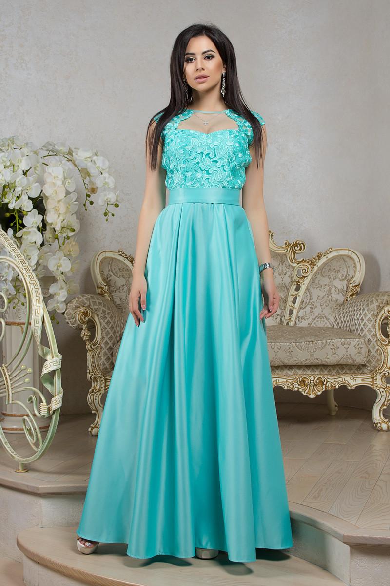 Роскошное длинное вечернее платье в пол мятного цвета на выпускной или  мероприятие 8054 1f14eb3a3abfa